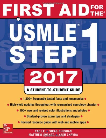 Download First Aid For USMLE Step 1 2017 pdf Book Cover