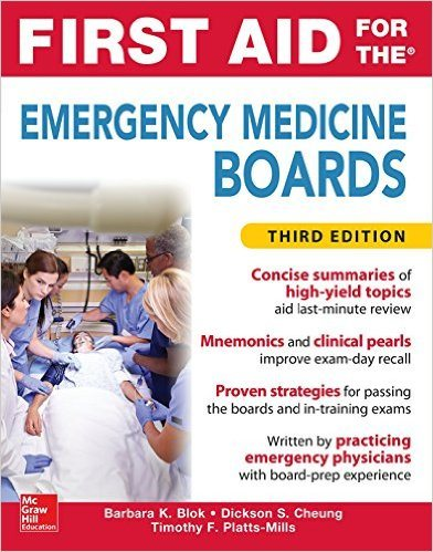 First Aid for the Emergency Medicine Boards 3rd Edition (2016) PDF