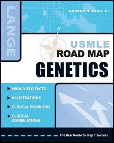 USMLE Road Map Genetics 1st Edition Book Cover
