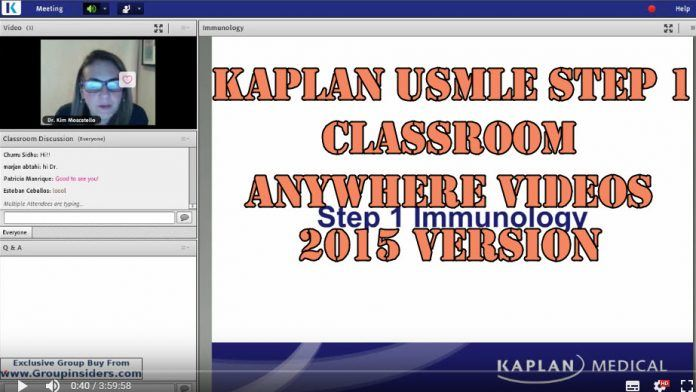 Kaplan USMLE Step 1 Classroom Anywhere Videos 2015 Book Cover