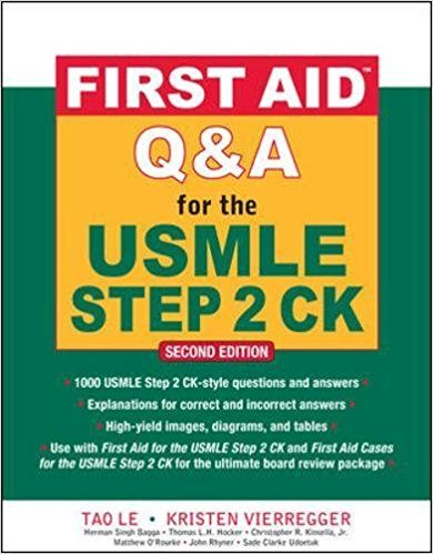 First Aid Q and A for the USMLE Step 2 CK (2nd Edition) Book Cover