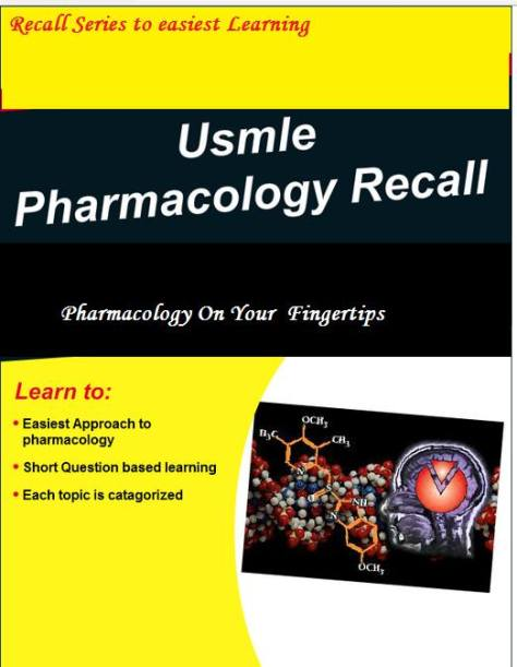 USMLE PHARMACOLOGY RECALL PDF