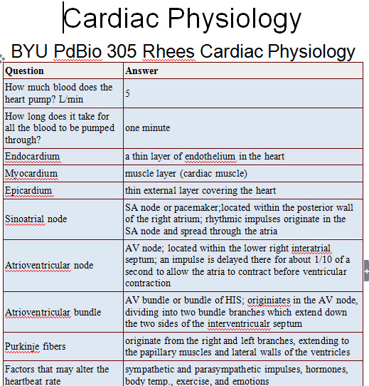 Dr Rhees Physiology Flashnotes