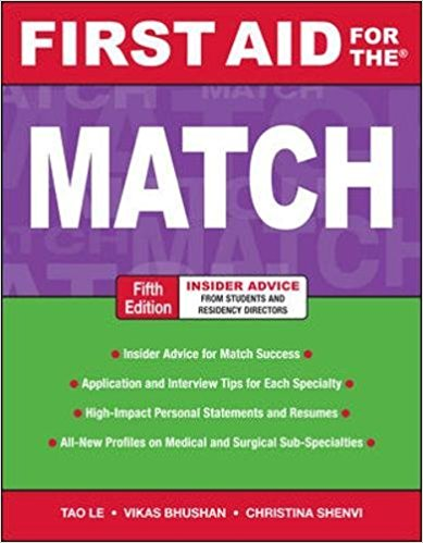First Aid for the Match, Fifth Edition PDF