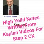 High Yeild Note Written From Kaplan Videos For Step 2 CK