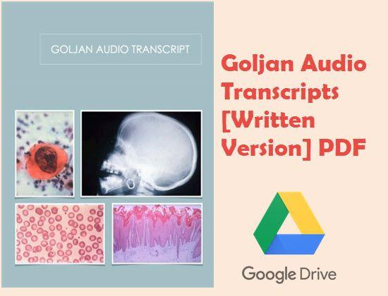 Goljan Audio Transcripts [Written Version] PDF