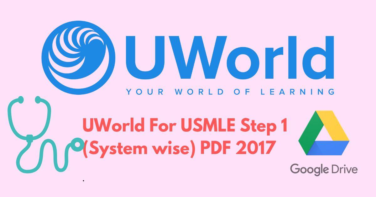 UWorld For USMLE Step 1 2017