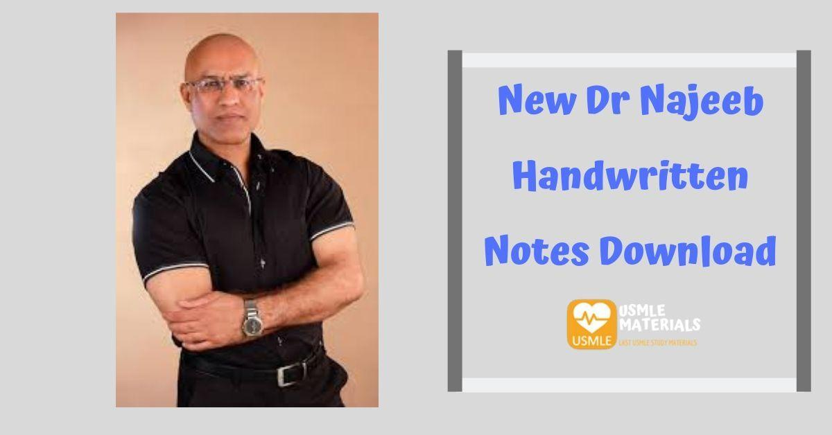 New Dr Najeeb Handwritten Notes Download