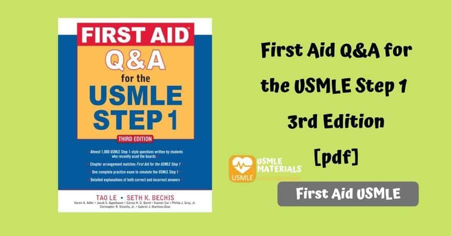 First Aid Q&A for the USMLE Step 1 [pdf] 3rd Edition