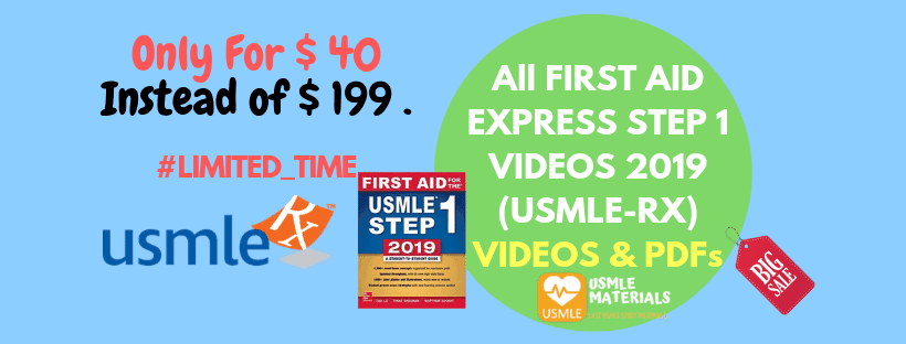Download First Aid Express Step 1 2019 (USMLE-Rx) Videos + PDF Books