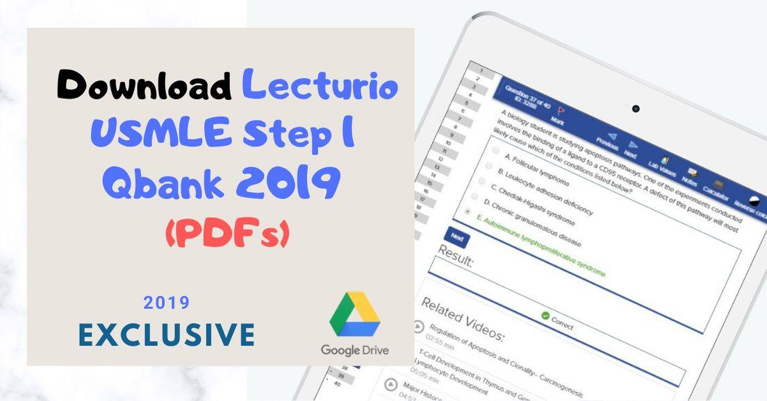 Download Lecturio USMLE Step 1 Qbank 2019 [PDFs]