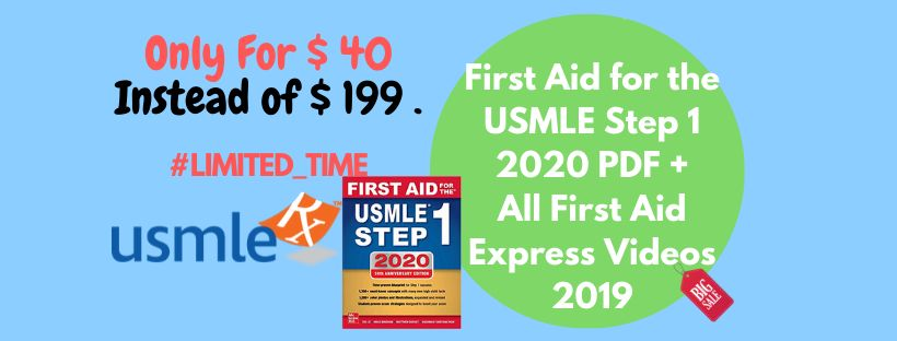 First Aid for the USMLE Step 1 2020 PDF Plus First Aid Express Step 1 2019