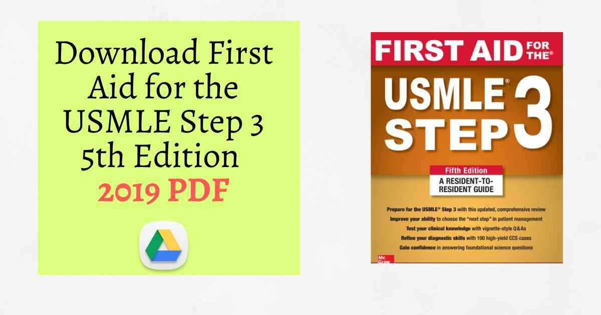 Download First Aid for the USMLE Step 3 5th Edition 2019 PDF
