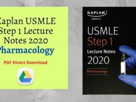 Kaplan USMLE Step 1 Lecture Notes 2020: Pharmacology PDF Direct Link